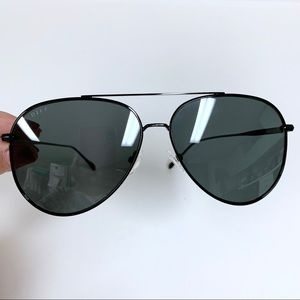 DIFF EYEWEAR Radiator Polarized Sunglasses -Black